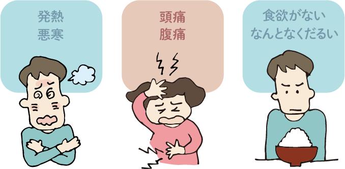 飯内科クリニック 症状 イラスト
